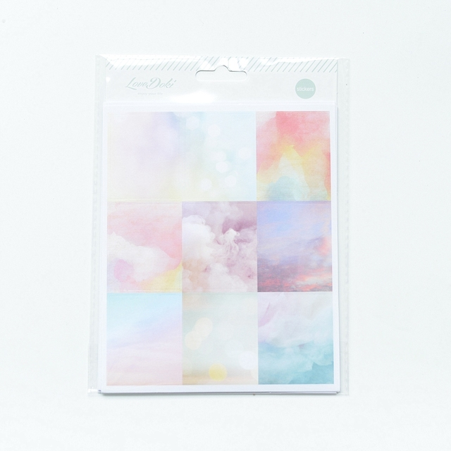 Lovedoki 2020 Beautiful Clouds Sticker Notebook Planner Decorativ Bullet Journal Stickers Japanese Stationery School Supplies 3