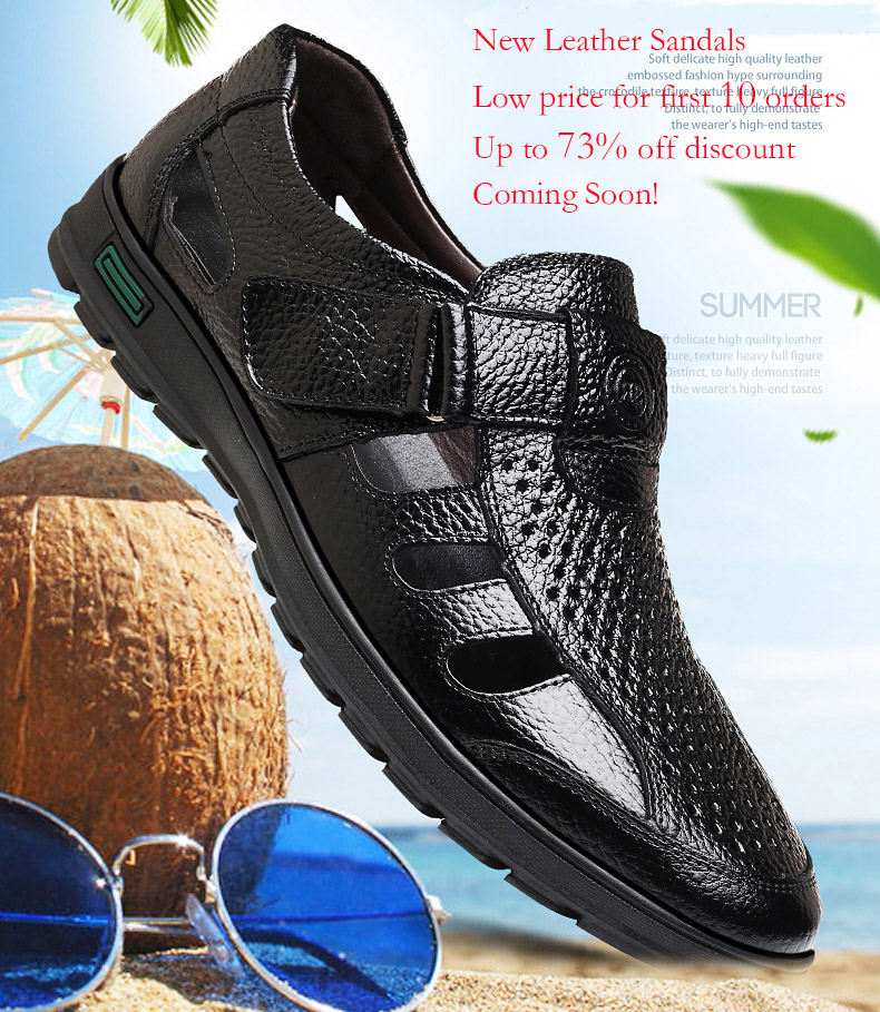 HTB12t25MxTpK1RjSZFKq6y2wXXaZ - ROXDIA Genuine Leather New Fashion Summer Breathable Men Sandals Beach Shoes Men's Causal Shoes Plus Size 39-44 RXM002