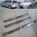 Accessories FIT FOR Hyundai i30 2007 2008 2009 2010 2011 Chrome Stainless Door Scuff Sill Plate Protector Entry Panel Cover