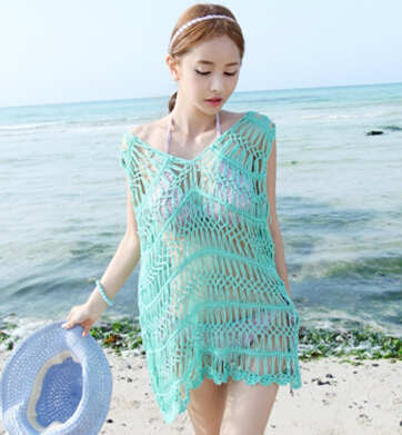 Crochet Cover Up Swimsuit Covers Handmade Crochet Dress Net Skirt Custom Crochet Swimsuit Cover Up Pattern