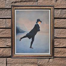 Famous Canvas Painting Reproduction The Skating Minister Hand Painted Canvas Wall Art Figure Painting for Living Room Unframed