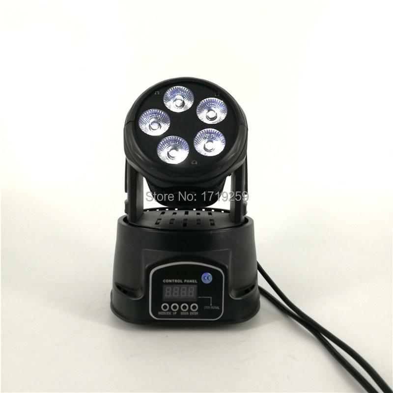 4 pcs/lot LED Mini Moving Head 5x18W RGBWA+UV Light Good for Disco Moving Head Lighting Uplighting