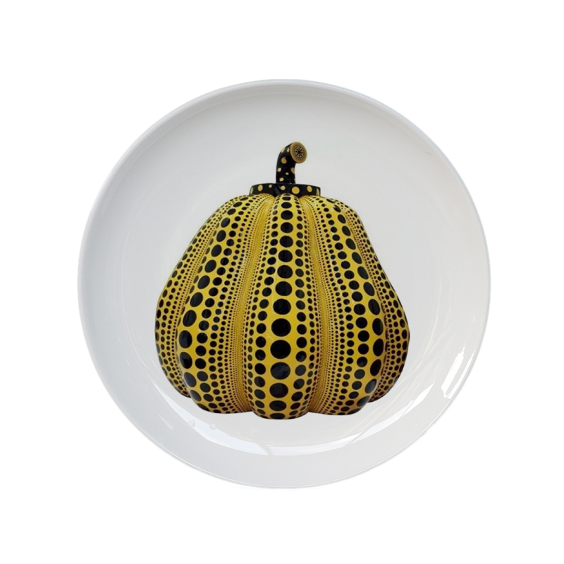 Pumpkin Decorative Hanging Plate Japanese-style Ceramic Colorful Dish For Home Decor House Background Exhibition Desk Display
