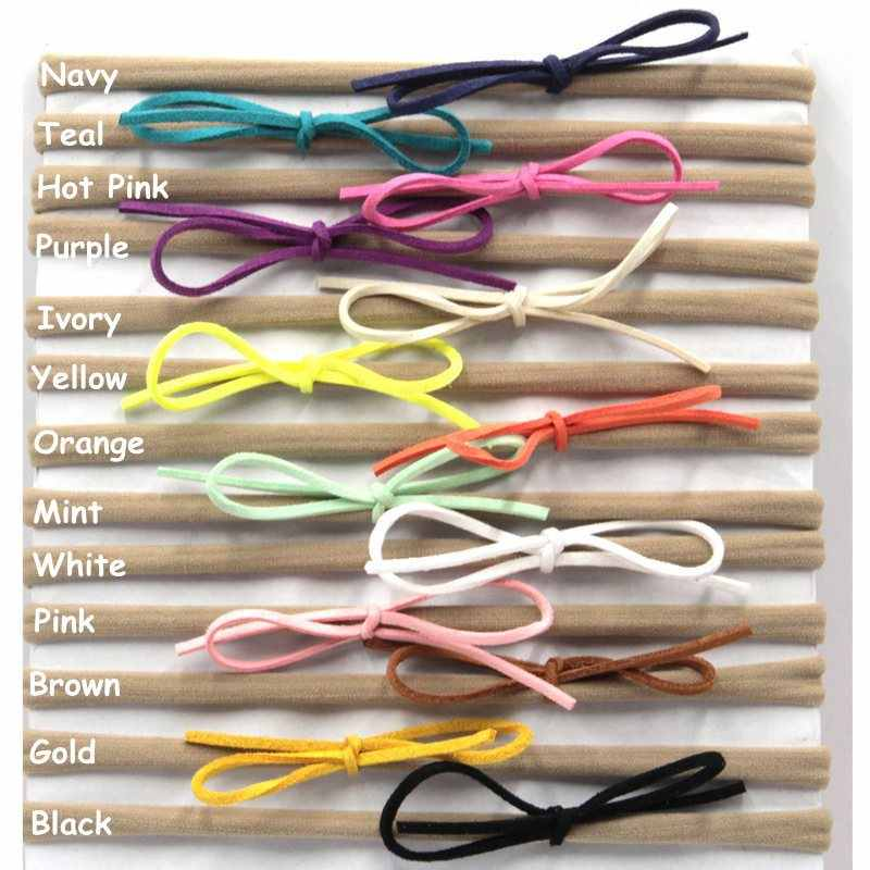 Diadema de nailon para niñas y bebés banda elástica para el pelo para niños  pequeños gamuza 35fe8facd722