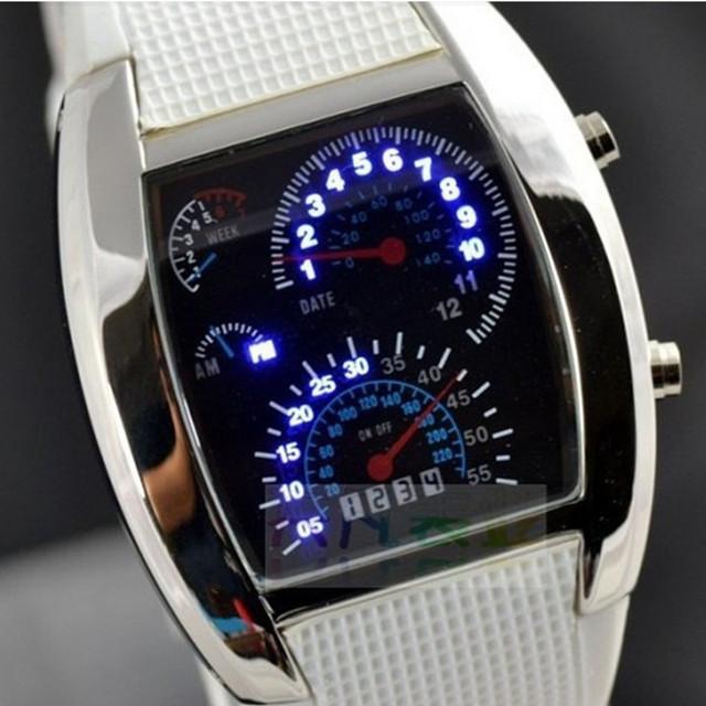 Fashion Men's Watch Unique LED Digital Watch Men Watch Electronic Sport Watches Men Rubber Clock relogio masculino reloj hombre