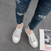 flat Platform Shoes Women Wedge Sneakers Female White Basket Femme Casual Shoes Summer