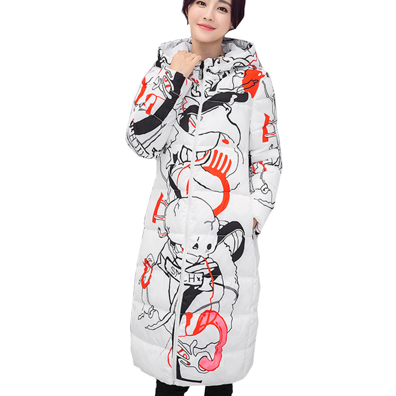 2017 Korean long dress cotton-padded clothes harem coat big yards winter jacket coat winter coat women 2015the new women s clothing han edition cotton padded clothes coat long big yards more loose tooling cotton padded jacket