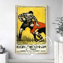 póster rugby RETRO VINTAGE