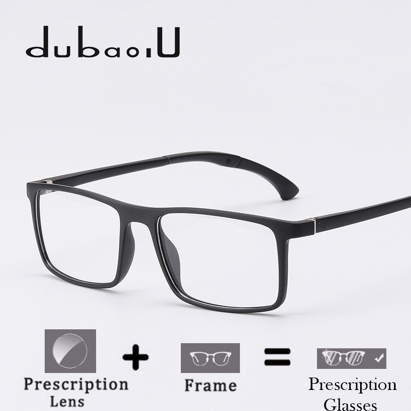 4120bc9770f TR90 Prescription Glasses Rectangle Computer Myopia Transparent Optical  Prescription Eyeglasses For Men Ultralight  MA09-
