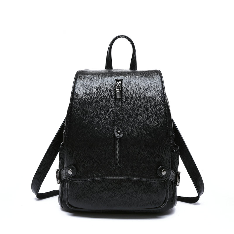 New 2017 100% Real Soft Genuine Leather Women Backpack Woman Korean Style Ladies Strap Laptop Bag Daily Backpack Girl School 2017 new 100