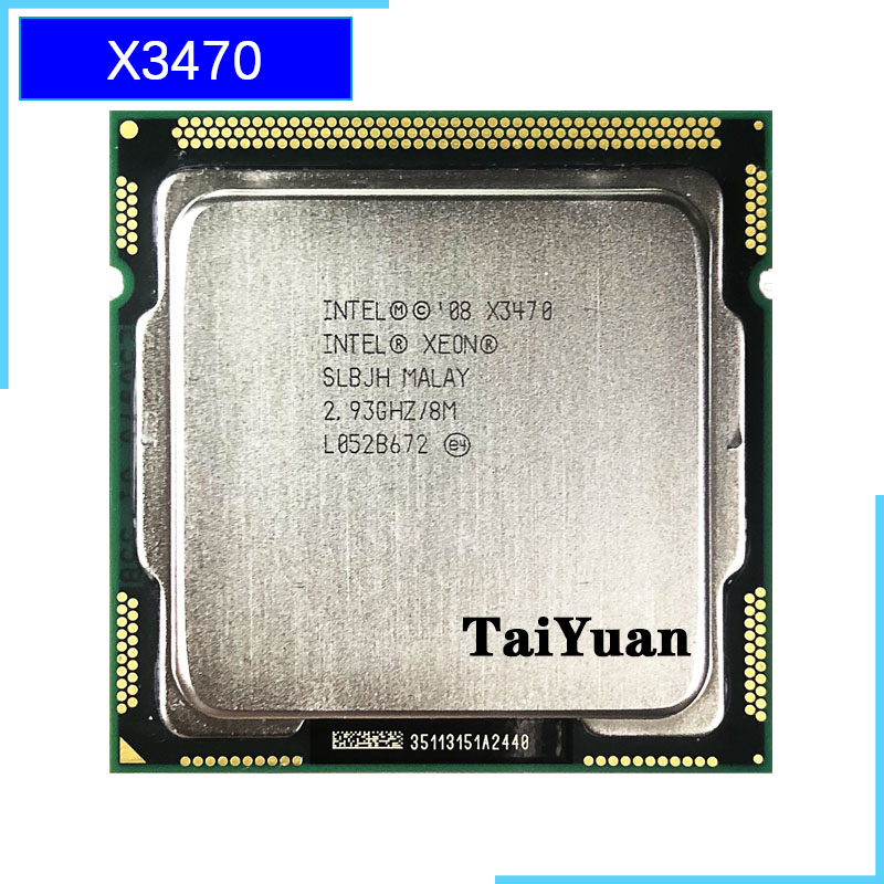 Intel Xeon X3470 2.933 GHz Quad-Core Eight-Thread 95W CPU Processor 8M 95W LGA 1156(China)