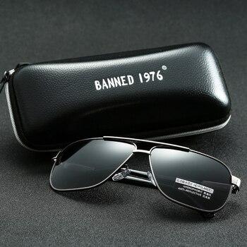 2018 new Men's Aluminum Polarized Mens Sunglasses Mirror Sun Glasses Square Goggle Eyewear Accessories For Men Female gafas