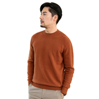 Smpevrg чистый кашемировые свитера мужские пуловеры Длинные рукава Половина Высокая шея мягкий полувер man'sweater трикотажные человек Джемперы ос