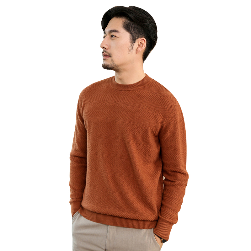 Smpevrg Pure Cashmere Sweater Men`s Pullovers Long Sleeve Half High Neck Soft Pullover Man`sweater Knitted Man Jumpers Autumn