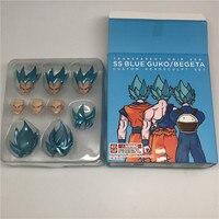 Demoniacal fit SSJ Dragon Ball Z Action Figure Blue Custom Headsculpt Head And Hair Set Accessories For SHF Goku & Vegeta