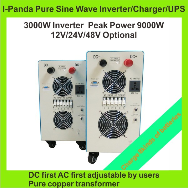 LCD Pure sine wave inverter 3000W 110/220V 12/24/48VDC, CE RoHS, PV Solar Inverter,  Car Inverter Converter Gel AGM  Calcium pure sine wave inverter 1500w 110 220v 12 24vdc ce certificate pv solar inverter power inverter car inverter converter