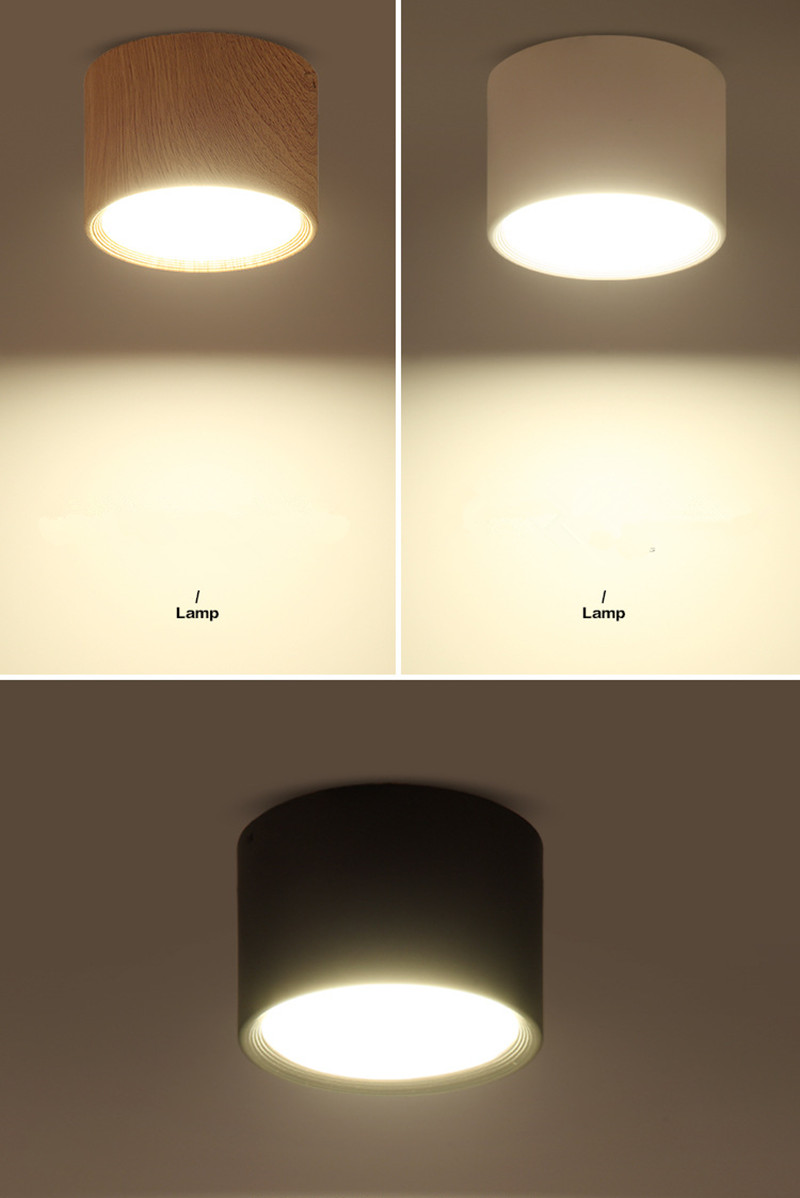 DBF 5W/12W LED Surface Mounted Ceiling Lamp 85-265V Ceilings Light for Living Room Bedroom Home Decoration Indoor Spot Lighting