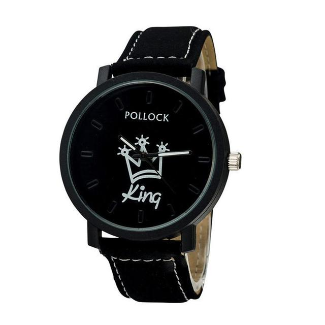 pollock Queen/King Stylish Lovers Quartz Watch Stylish Wristwatch Ornament Gift