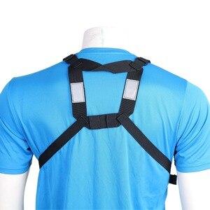 Image 5 - Abbree chest harness 프론트 팩 파우치 홀스터 조끼 리그 양방향 라디오 워키 토키 (rescue essentials) (reflective black)