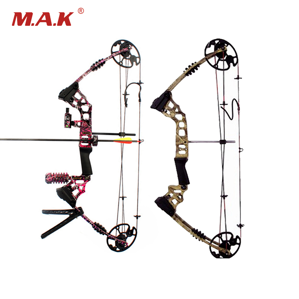 1pc 20-70 Lbs 17-29 Inch Aluminum Alloy Compound Bow in 3 Color for Outdoor Archery Hunting Shooting 35 70 lbs powerful compound bow aluminum alloy archery bow arrow for outdoor hunting shooting