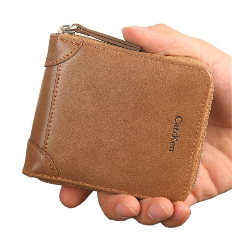 New Brand Men Wallet Vintage Women Short Clutch Card Purse Fashion Sweetheart Purse For Male Zipper Wallet With Coin Pocket