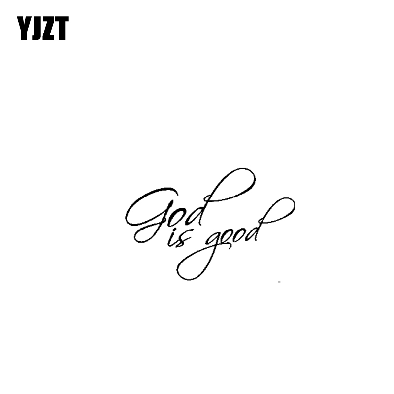 Yjzt 12.7cm*8.3cm God Is Good Jesus Vinyl Car Motorcycle Sticker Decals Black/silver C13-000162 Promote The Production Of Body Fluid And Saliva Automobiles & Motorcycles