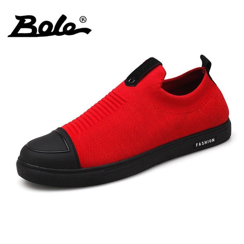 BOLE Men Slip on Sneakers Summer Breathable Casual Shoes Round Toe Fashion Men Shoes кольца для занавесок maritime moroshka кольца для занавесок maritime