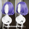 Free Shipping Owari no Seraph Of The End Anime Cosplay Wig Chess Belle 32CM Short Curly Purple Wig For Halloween Party Cosplay