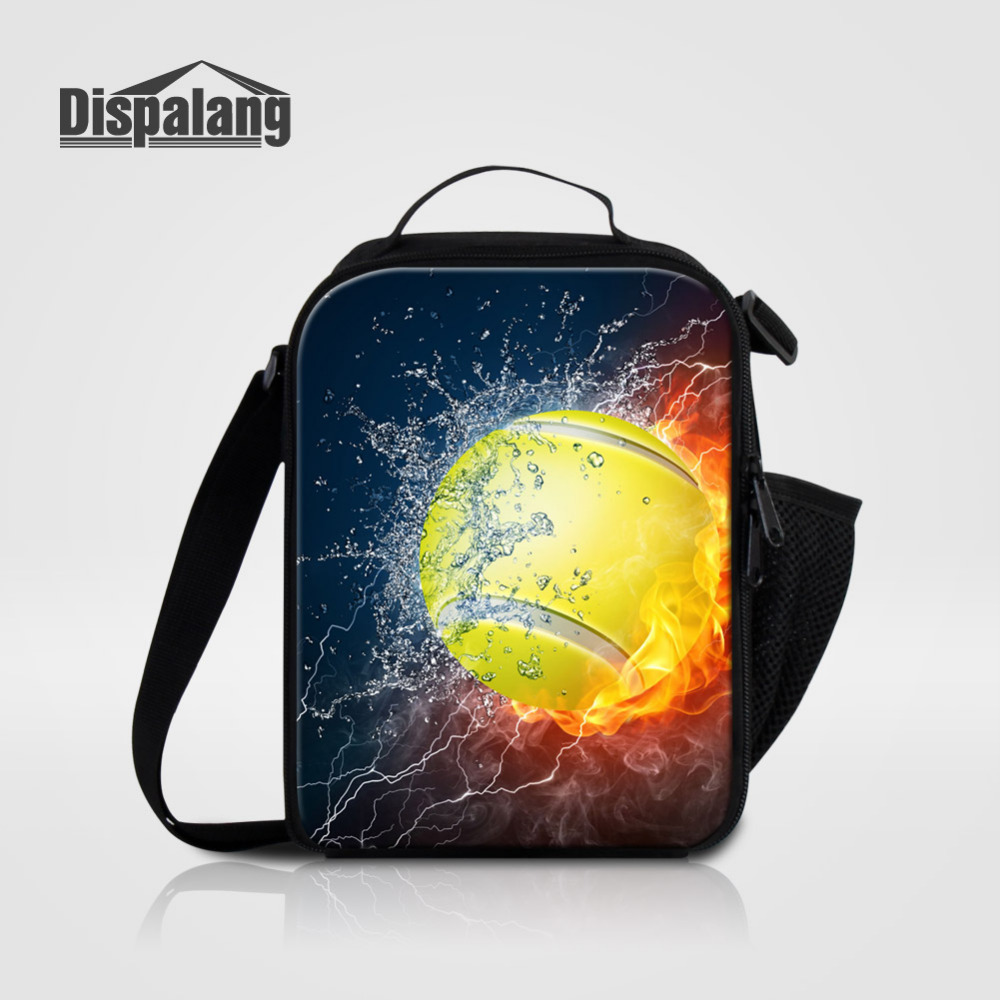Dispalang Portable Insulated Cooler Lunch Bag Baseball Print Thermal Picnic Food Bag for Men Kids Boy Lunch Box Bag Tote