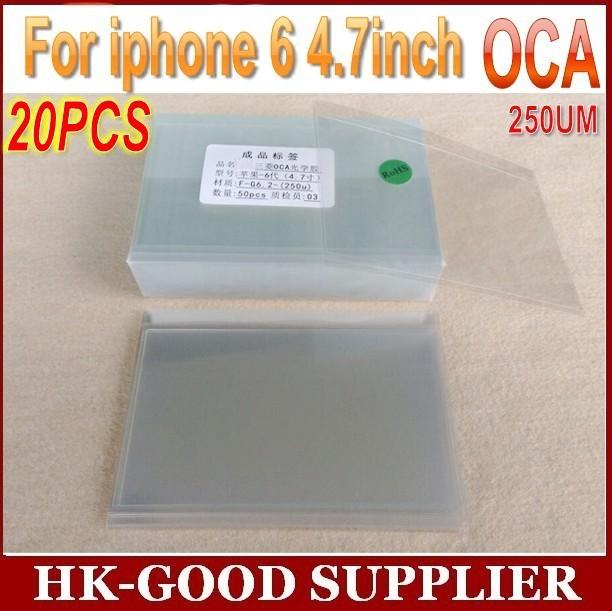 20 unids reparación de cristal del arreglo Para iphone6/6 s OCA optical adhesive clear 250um envío Aéreo Del China Post Registrados correo/ePacket