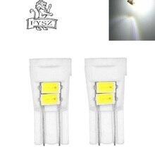 2Pcs  T10 3W 6-LED 8000K 194 SMD 5730 Ceramics Light Cold White 200lm - + Yellow