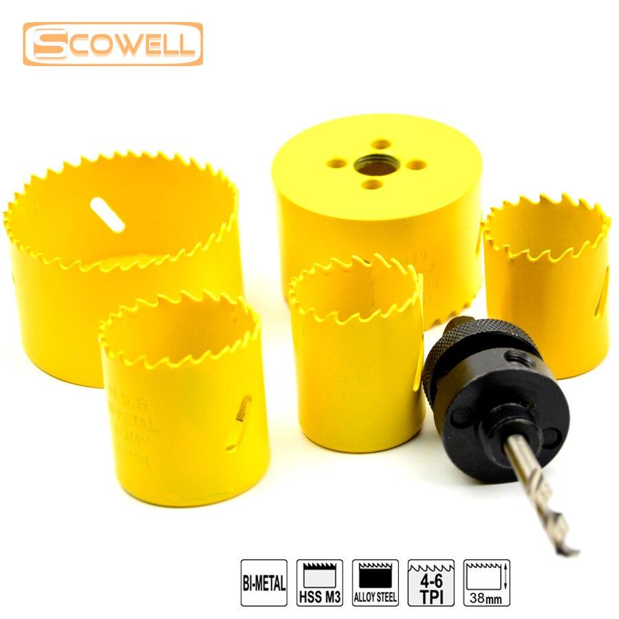 ̿̿̿(•̪ )Profesional 6 PCS HSS M3 bi-metal saw kit untuk holesaw ... f6b4cee334