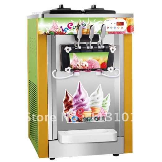 desktop type soft ice cream making machine ice cream making machine with rainbow jam system 22. Black Bedroom Furniture Sets. Home Design Ideas