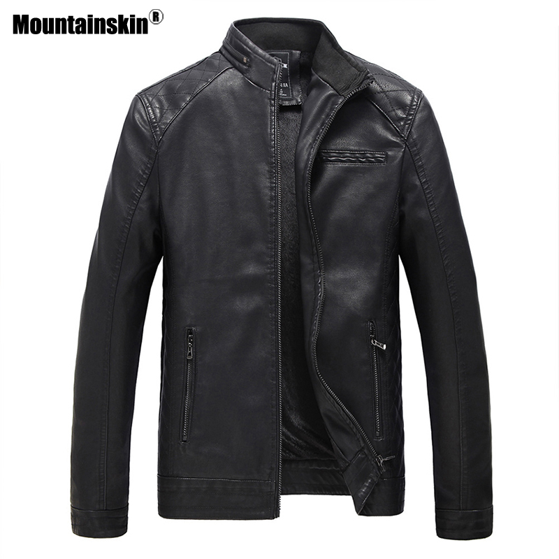 Mens Leather Jacket Brand High Quality Outerwear