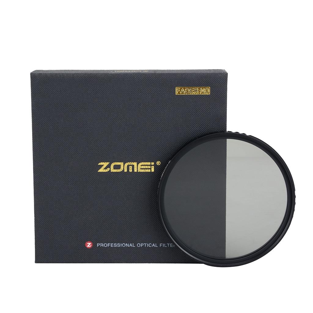 Zomei Ultra Mince ABS Fader ND Variable Réglable ND2-400 Filtre À Densité Neutre pour DSLR Objectif 49/52/55 /58/62/67/72/77/82mm