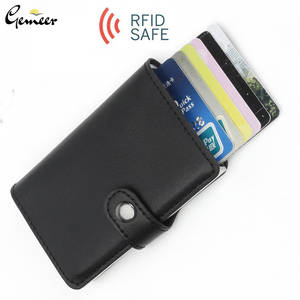 Gemeer Foreign Trade Automatic Wallet Aluminum Alloy Card Case Anti-Degaussing Anti-Theft RFID Aluminum Bank Credit Card