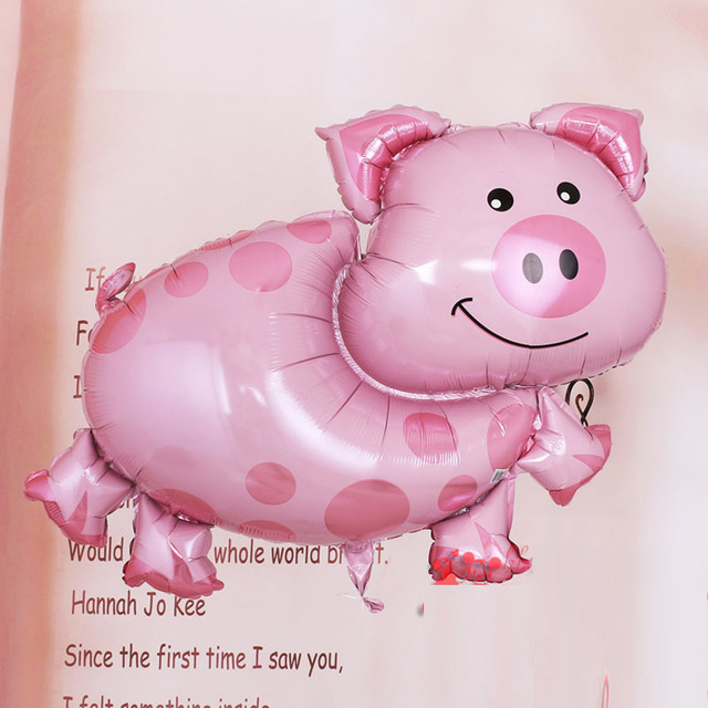 89x64cm helium balloons ballons imported balloons pig