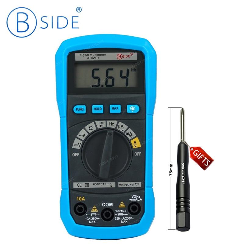 Bside ADM01 Auto Ranging Digital Multimeter DMM DC AC Voltage Current HZ Meter Tester Diode & Continuity Test