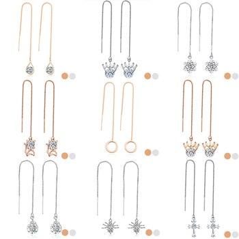 17KM Fashion Crystal Water Drop Earrings for Women Wedding Punk Star Moon Long Tassel Dangle Earring Bar Statement Jewelry 2018  5