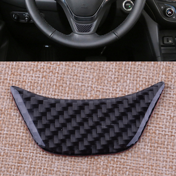 CITALL Carbon Fiber Texture Car Styling Steering Wheel Cover Trim Black Fit for Chevrolet Equinox 2017 Accessories image