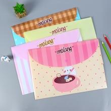 Дешевые 4 штуки в партии Симпатичные картофеля Кролик ПВХ сумка файл A4 Документ сумка Папки и файлы заполнения продукции Офис Школьные принадлежности Kawaii Канцелярские