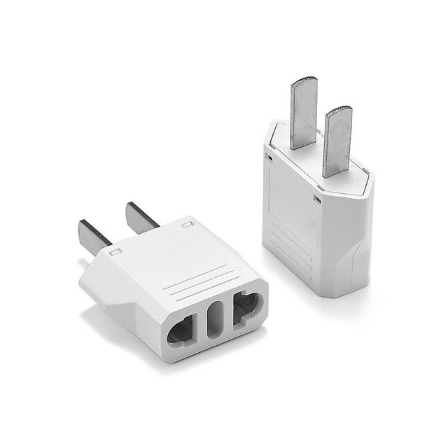 Us American An Cn Electric Plug Adapter European Eu To Travel Cord Charger Sockets Ac Converter Outlet
