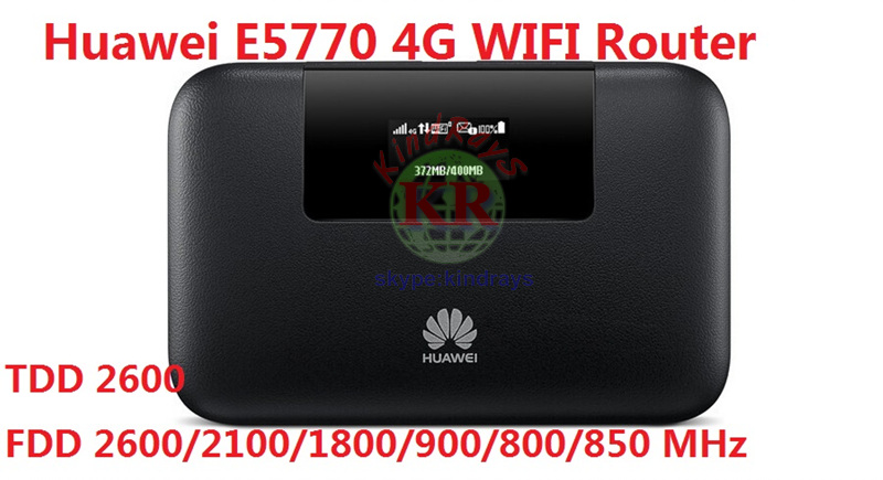 Huawei E5770 Mobile WiFi Pro Router with RJ45 4G LTE FDD800/850/900/1800/2100/2600Mhz DC-HSPA+850/900/1900/2100Mhz