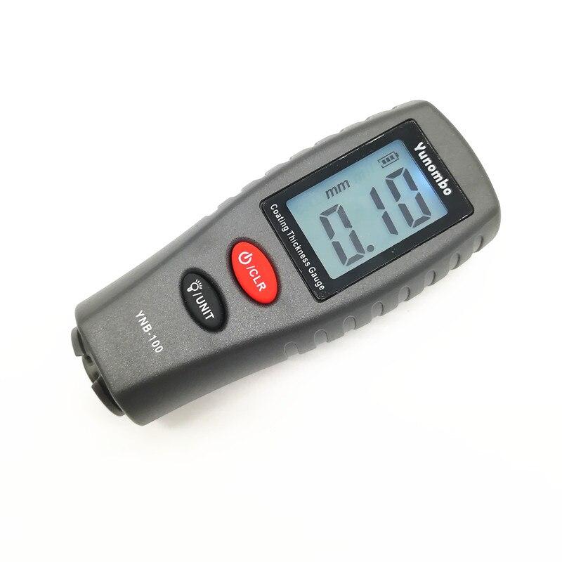 Digital Mini medidor de espesor de revestimiento de pintura del coche del espesor medidor pintura espesor tester medidor de espesor con retroiluminación YNB-100