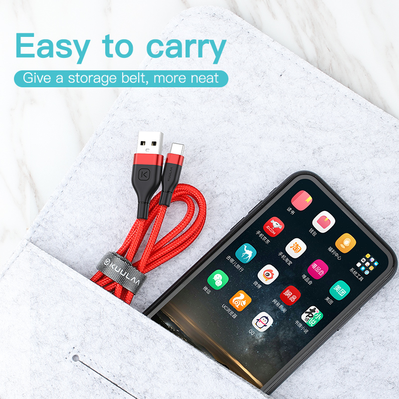 Image 5 - KUULAA USB Type C Cable For Xiaomi Mi Redmi Note 7 Quick Charge USB C Charger Type C Fast Charging For Samsung S9 S8 USBC Cable-in Mobile Phone Cables from Cellphones & Telecommunications