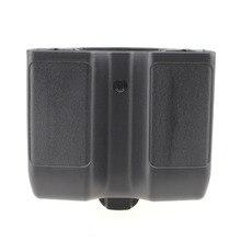 Quick Draw Double Magazine Pouch Case Stack Universal Pistol Cartridge Clip Holder Duty Belt Mag Box