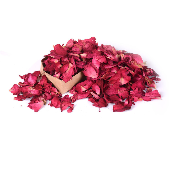 Romantic 30/50/100g Natural Dried Rose Petals Bath Dry Flower Petal Spa Whitening Shower Aromatherapy Bathing Supply 1