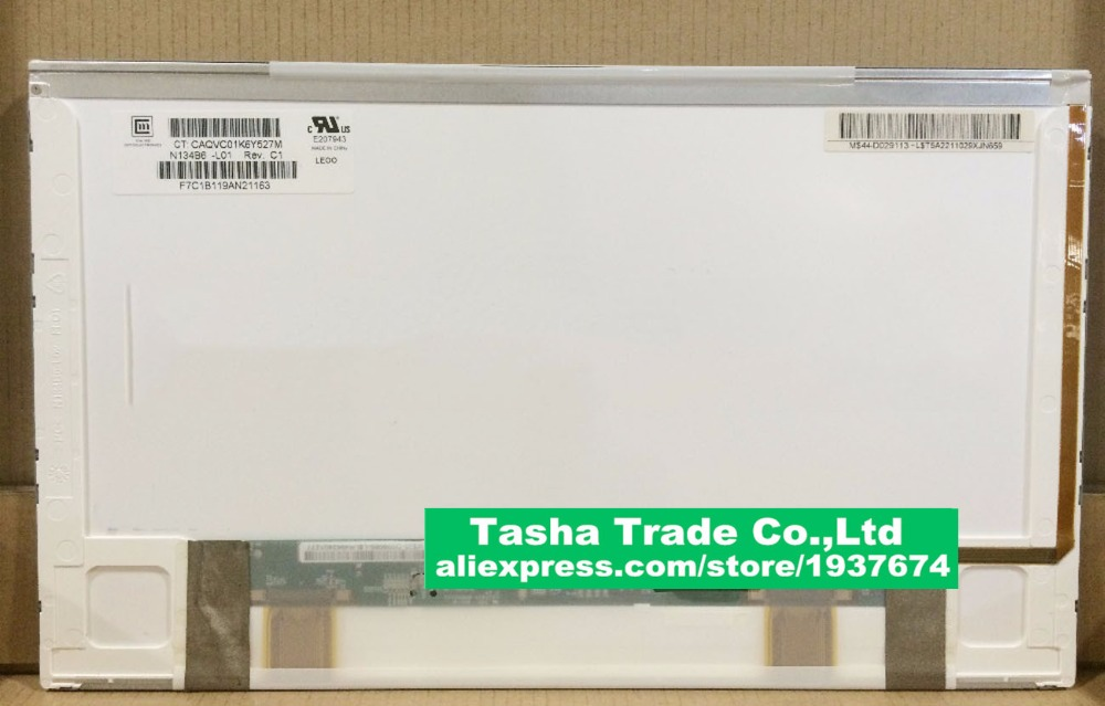 NEW 13.4 N134B6-L01 WXGA LCD Laptop Screen gf go7300 b n a3 gf go7400 b n a3