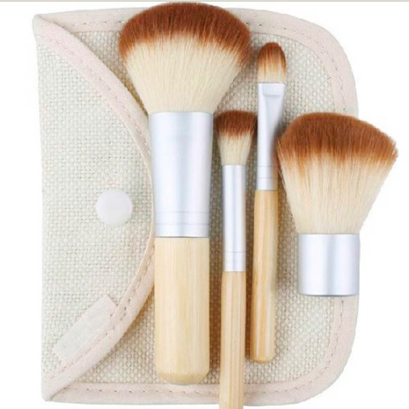1set/4Pcs Beauty	 Professional Foundation Make Up Cosmetic Bamboo Brushes Makeup Brush Set Kit Tools Eye Shadow Blush Brush hot sale 2016 soft beauty woolen 24 pcs cosmetic kit makeup brush set tools make up make up brush with case drop shipping 31