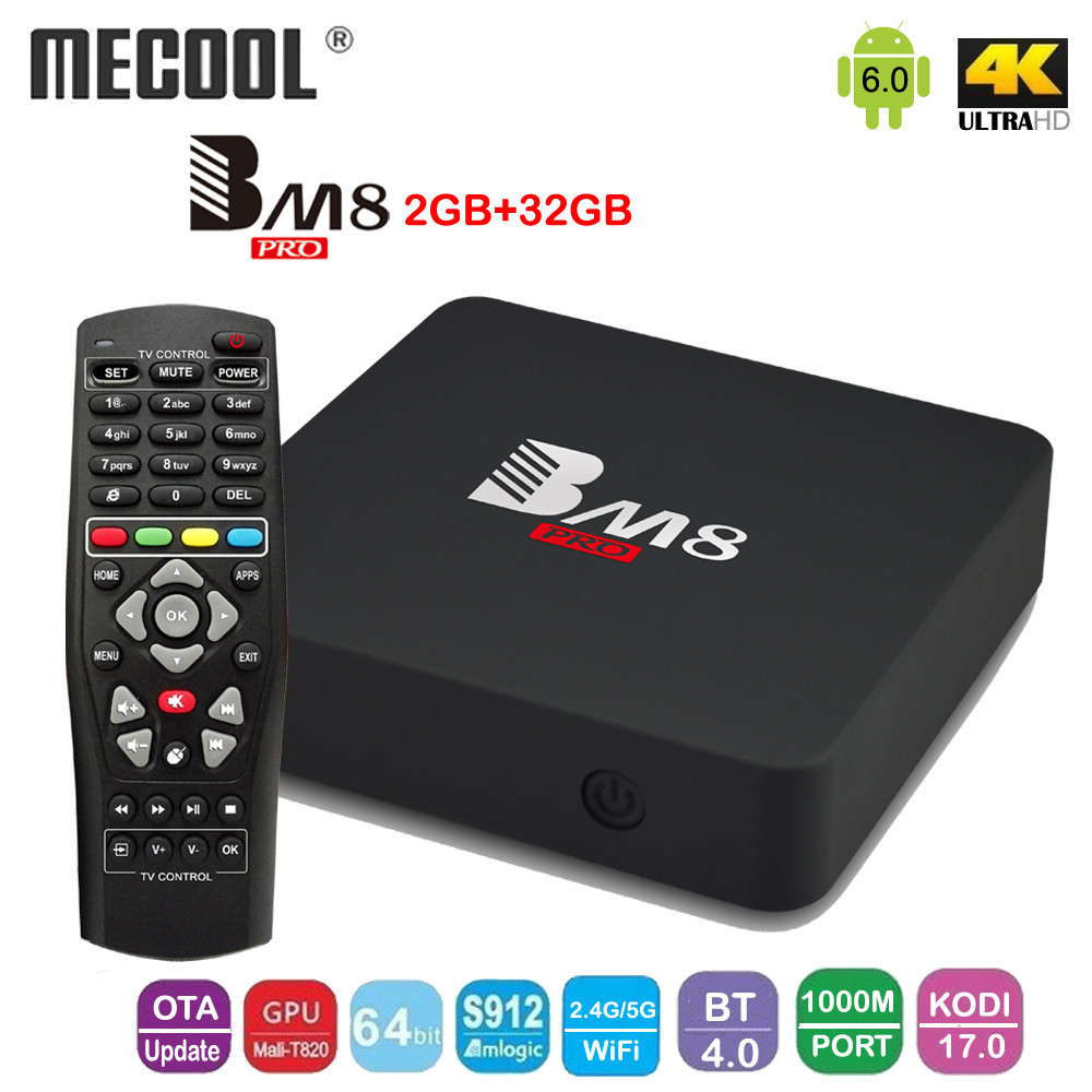 Mecool BM8 PRO Android 6.0 Amlogic S912 64bit Octa core TV BOX 2GB/32GB KODI17.0 2.4G/5G WiFi Support Bluetooth 4.0 Set Top Box мобильный телефон lg g flex 2 h959 5 5 13 32 gb 2 gb gps wcdma wifi